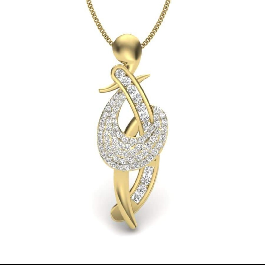 18k gold fancy pendant HV0540