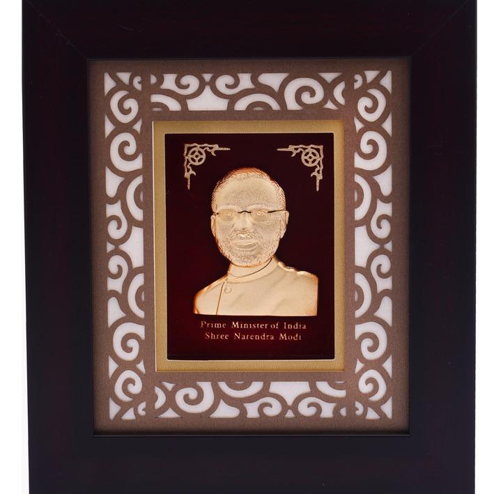 22K Gold Narendra Modi Photo Frame AJ-15