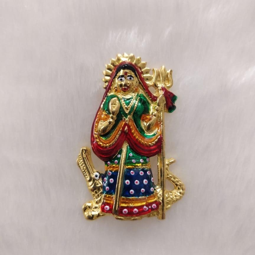 Khodiyar ma gold casting pendant