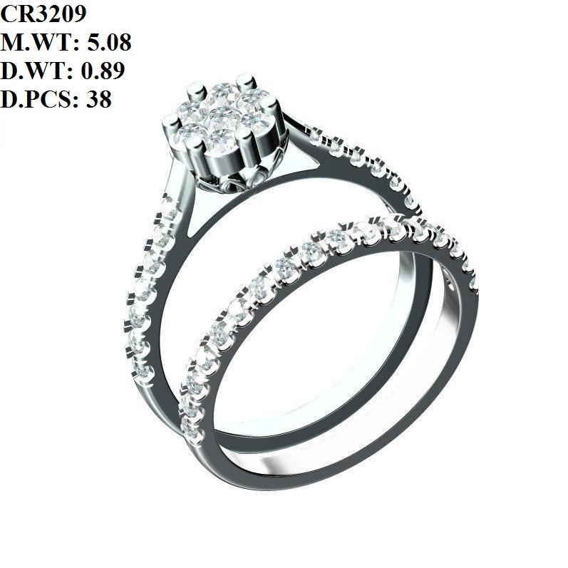 925 Silver Single Stone Ring MK-R06