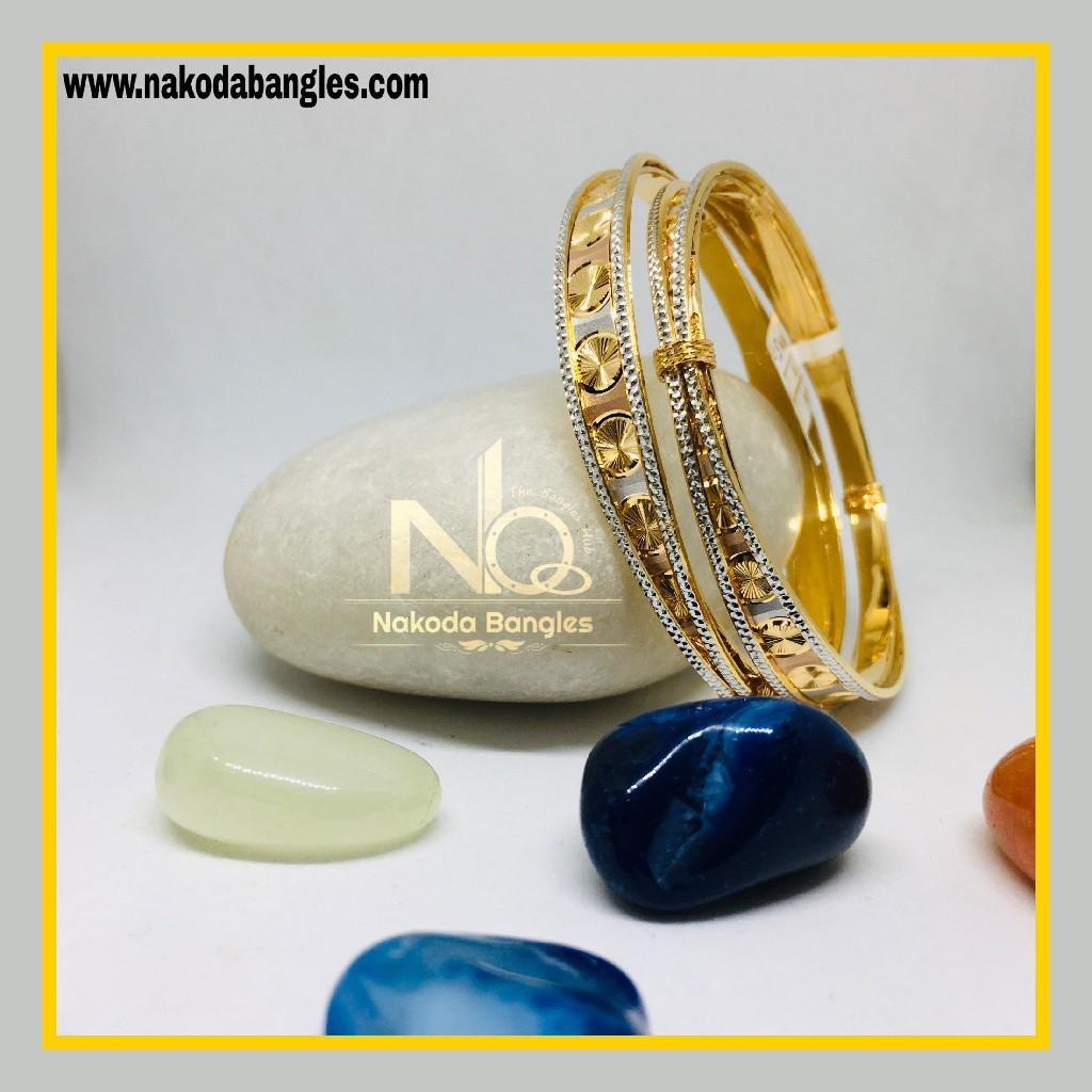 916 Gold CNC Bangles NB - 1271