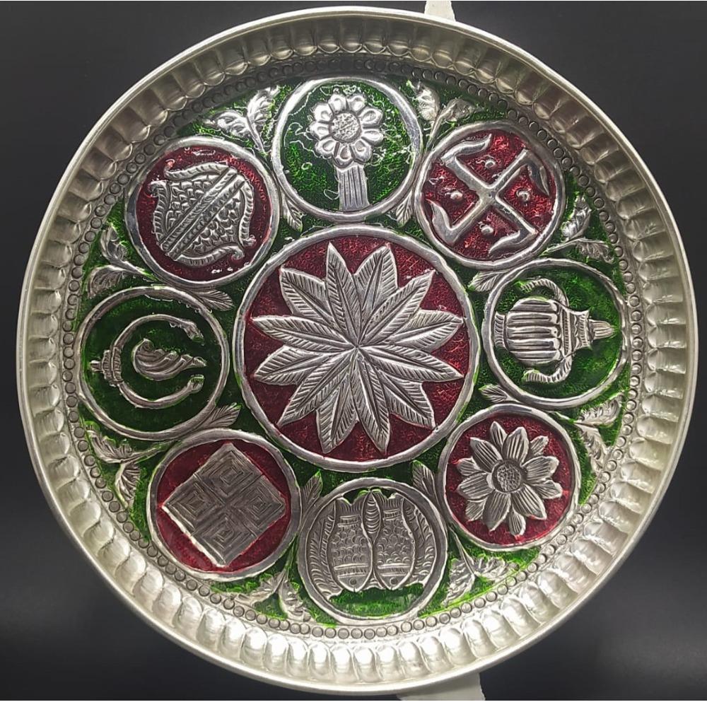 925 Pure Silver Antique Pooja Thali PO-263-28