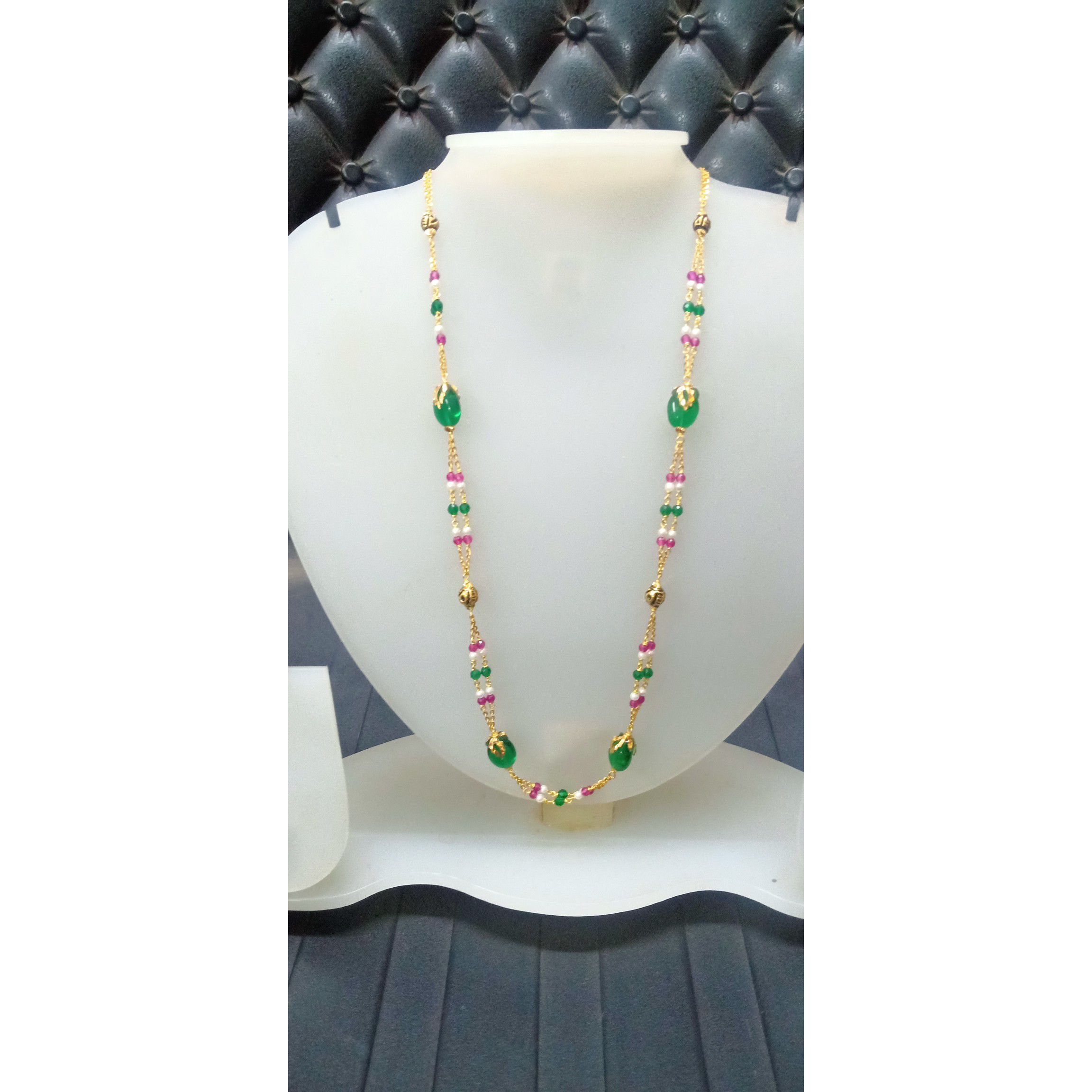 916 Gold Multicolor Fancy Mala
