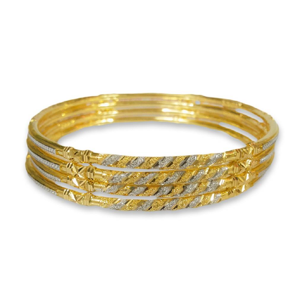 22KT VERTICAL DESIGNED GOLD COPPER KADLI BANGLE