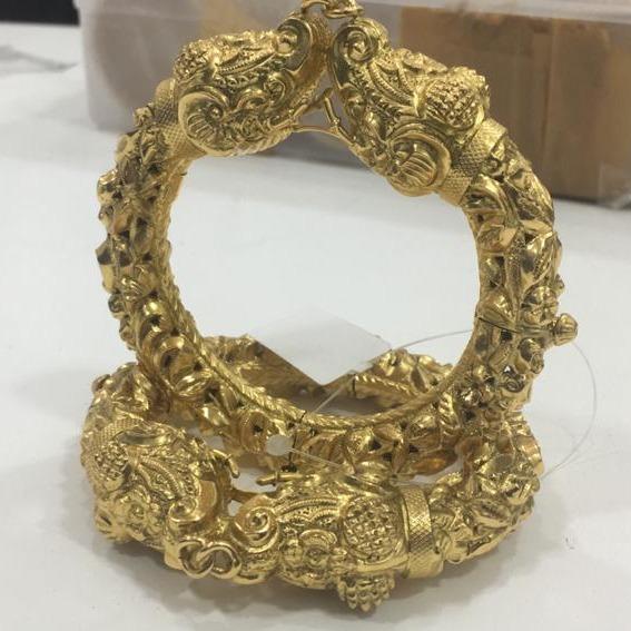 916 gold indian design wedding kada kv-b004