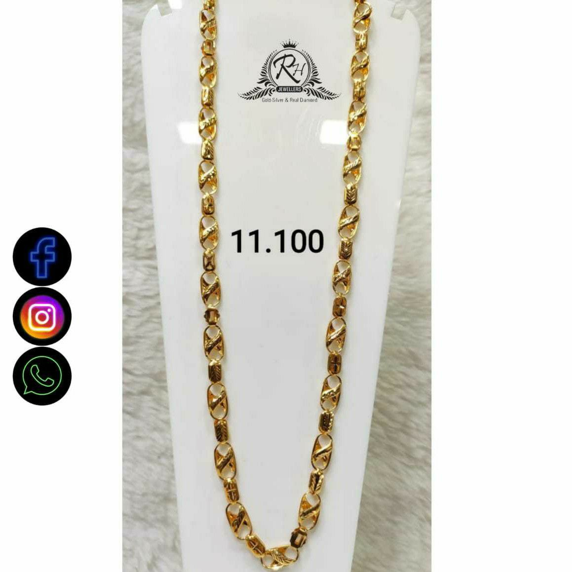 22 Carat Gold Antiq Gents Chain RH-CH779