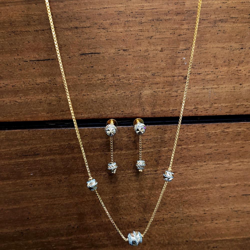 916 Gold Fancy Dokiya With Earrings PO-N06