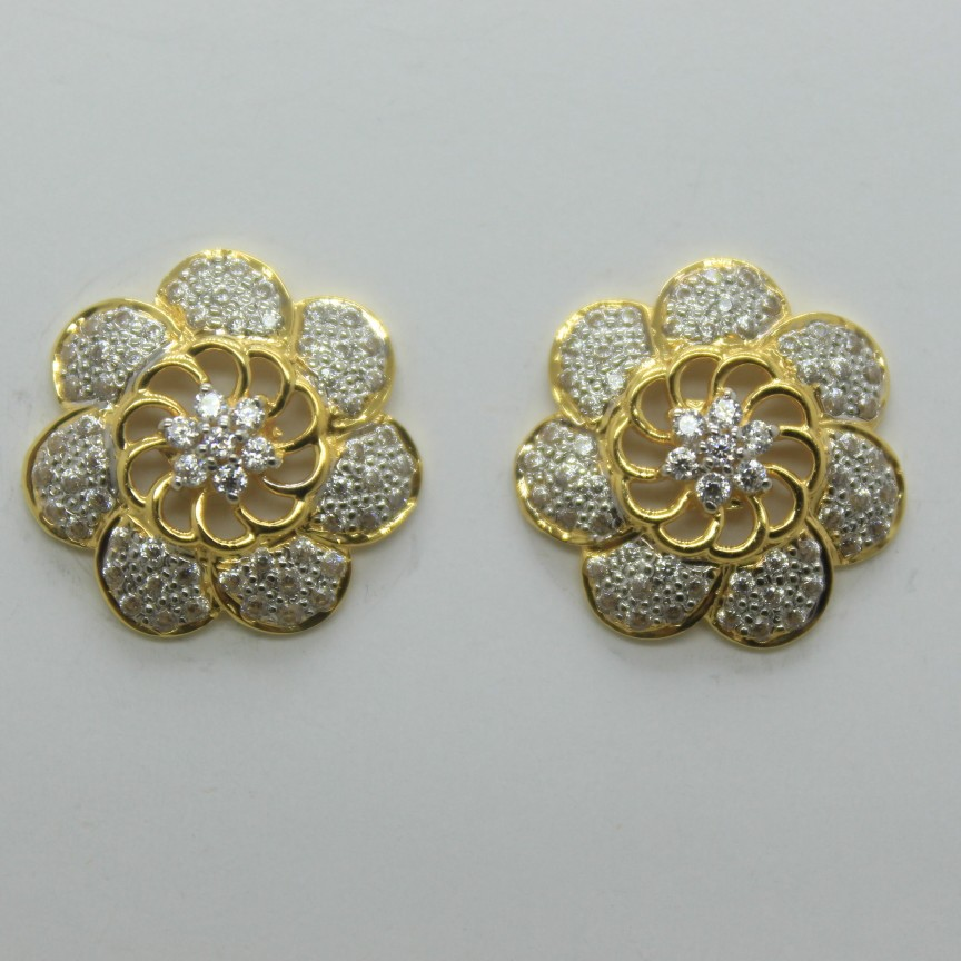 916 light weight round earrings