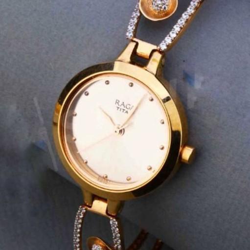 18kt Rose Gold fancy kada style Belt watch for ladies