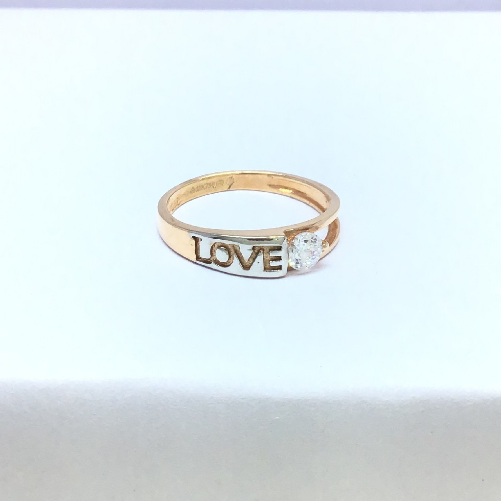 fancy rose gold ladies ring