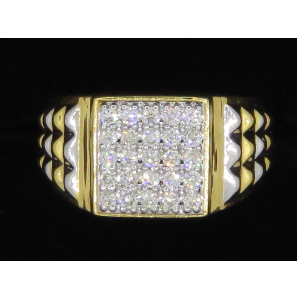 Gold Fancy Diamond Ring For Men KJ-R09