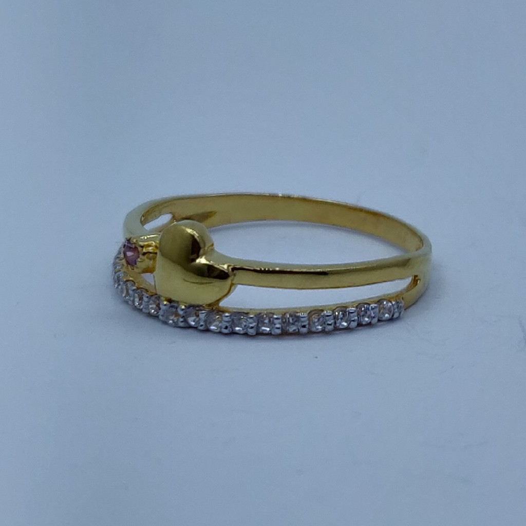 22k fancy light weight ladies ring