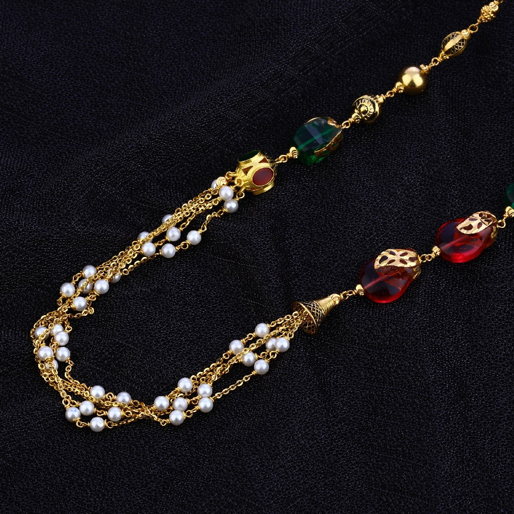 Designer Ladies 22K Gold Moti Mala-AC128