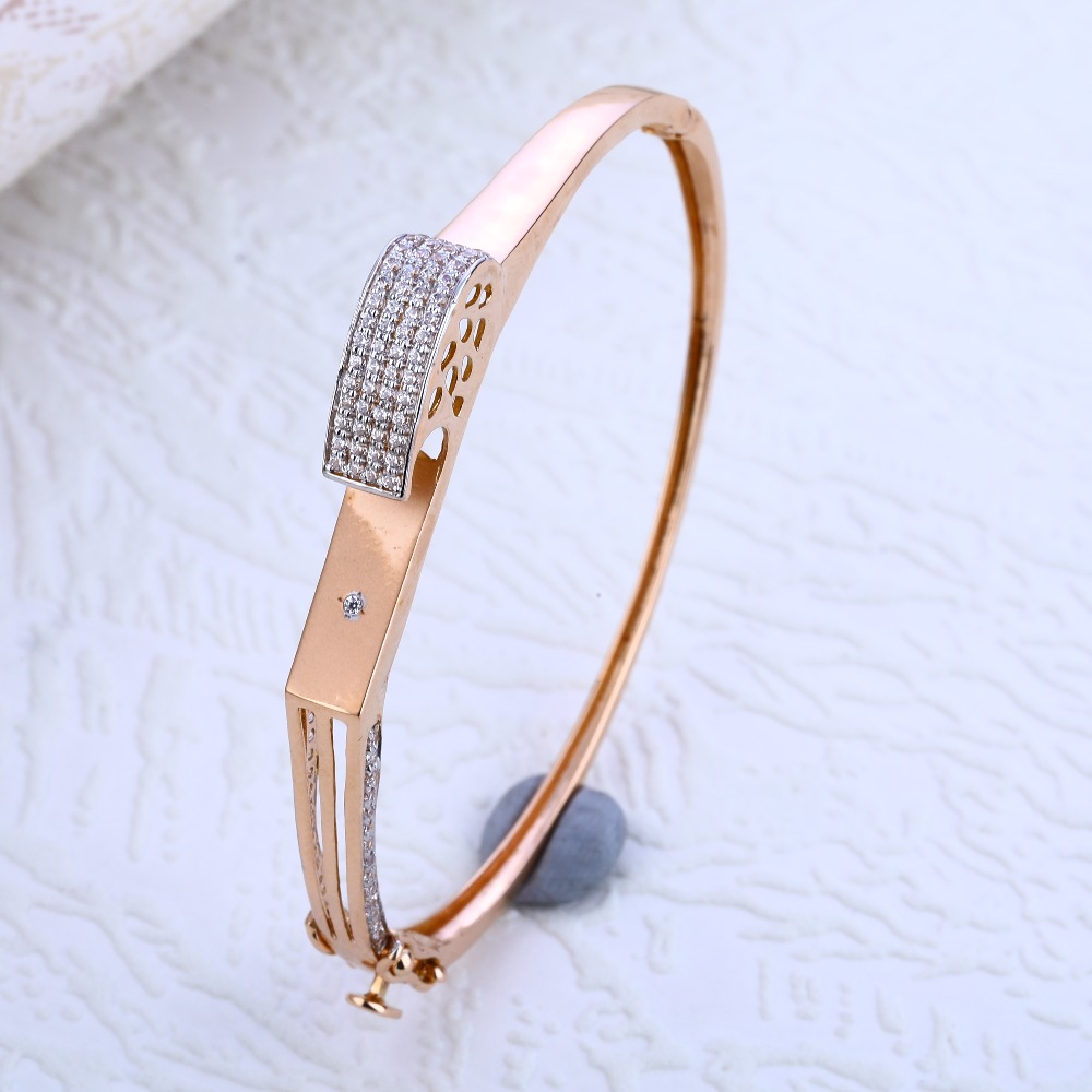 18KT Rose Gold  Delicate Hallmark Kada Bracelet RLKB190