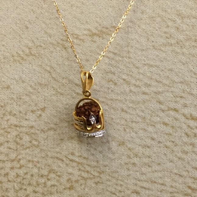 22K Gold Designer Pendant Chain
