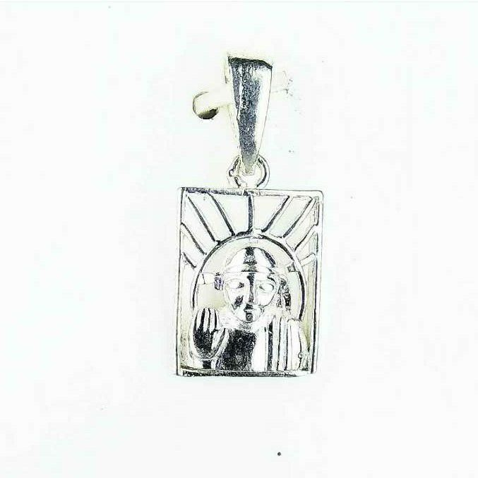 Light Weight Fancy 925 Silver Ladies Pendant With Sai Baba