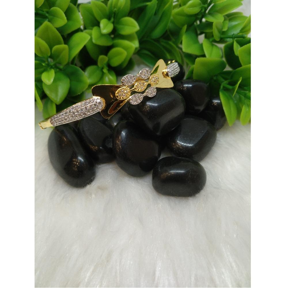 22Kt Gold CZ Designer Signetic Bracelet PO-B002