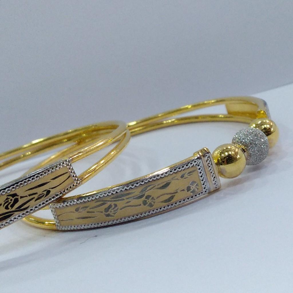 22KT/ 916 Gold fancy Rose printed design Cooper Kadli for ladies