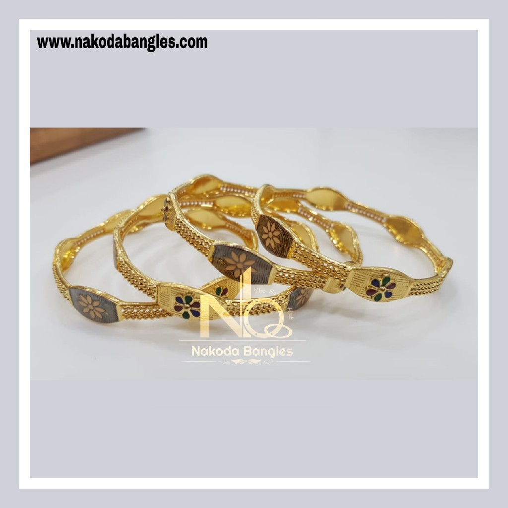 916 Gold Patra Bangles NB - 778