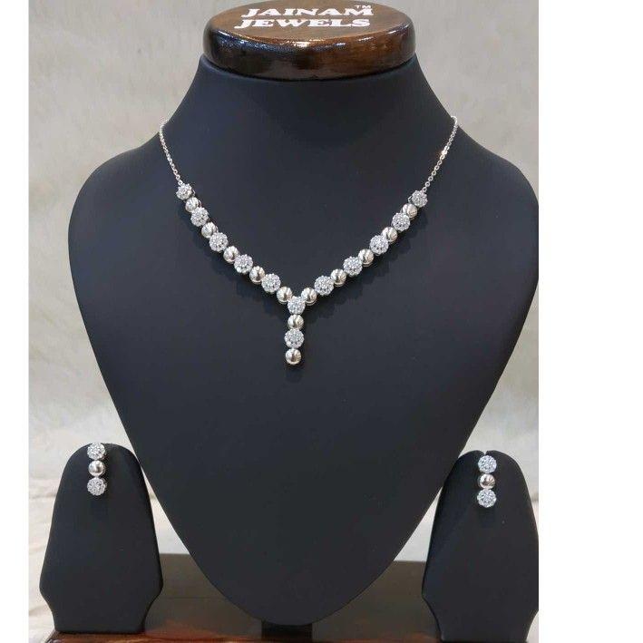 925 sterling silver diamond nacklalce