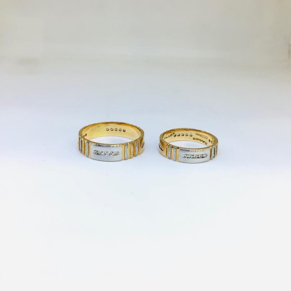 BRANDED FANCY ROSE GOLD COUPLE RINGS