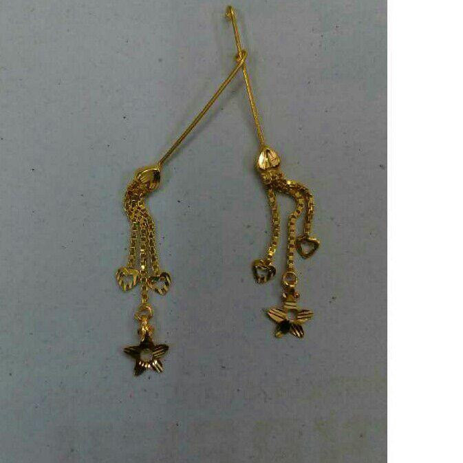 18K Gold Designer Ladies Latkan Earrings