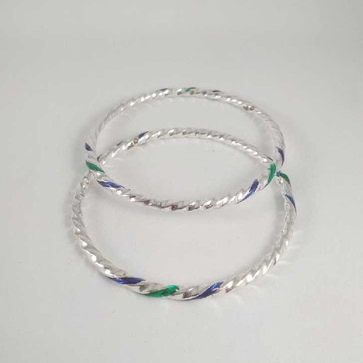Silver Twisted Bangles. NJ-B01047