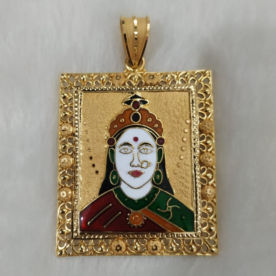 916 Gold Fancy Chehar Maa Pendant