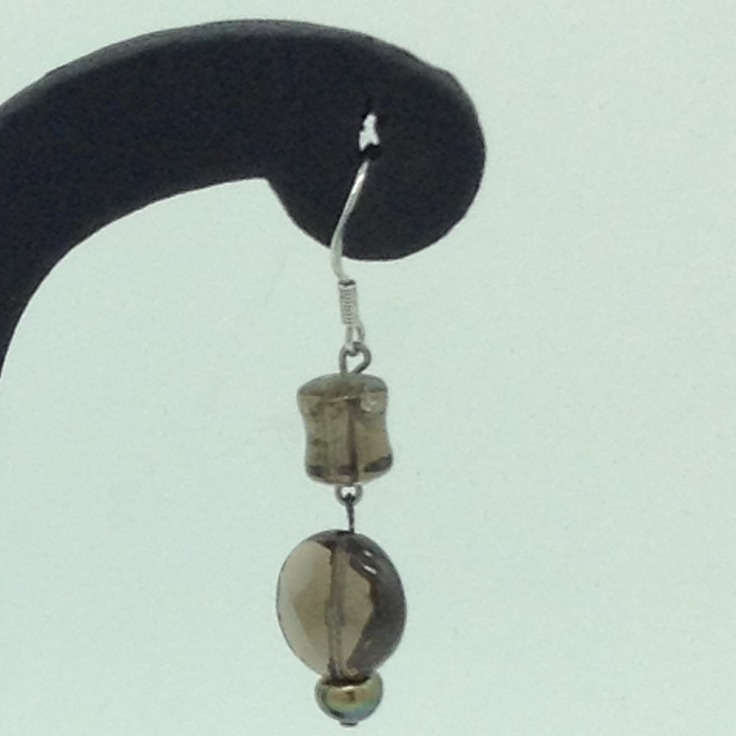 Smoky Topaz SilverEar HangingsJER0153