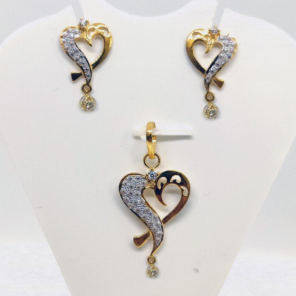 22kt gold cz pendant set sk-ps009