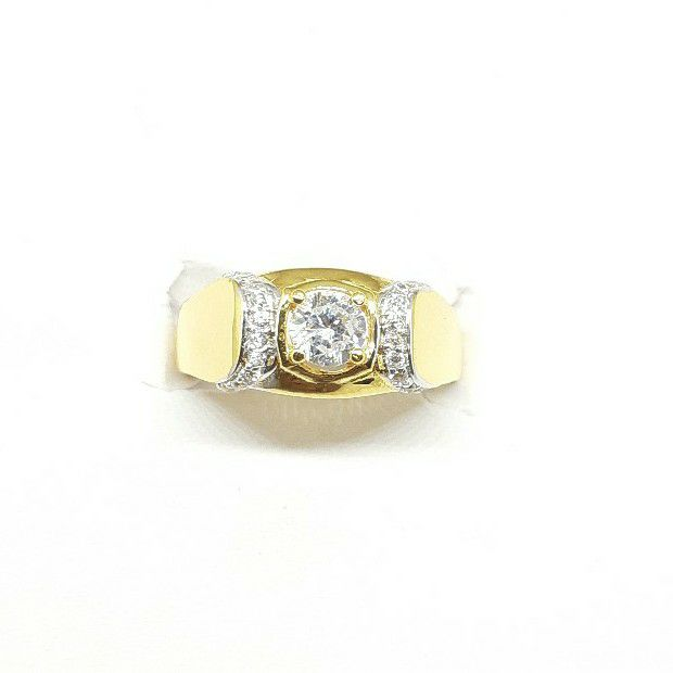 New 916 white stone gents ring