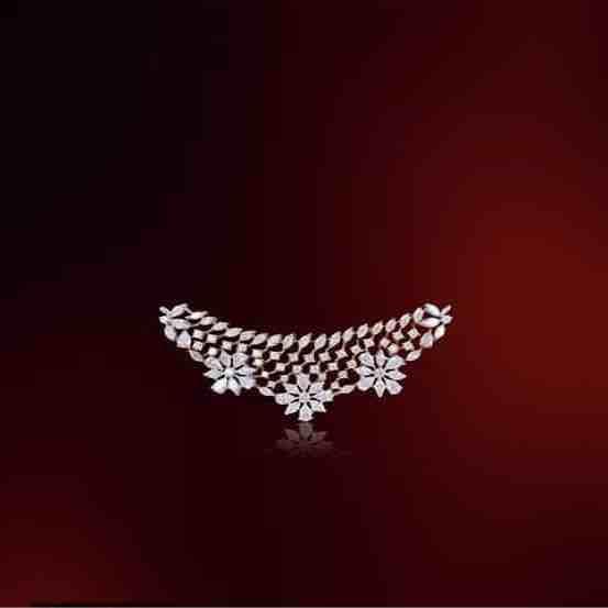 18KT Rose Gold Flower Design Real Diamond Mangalsutra Pendant