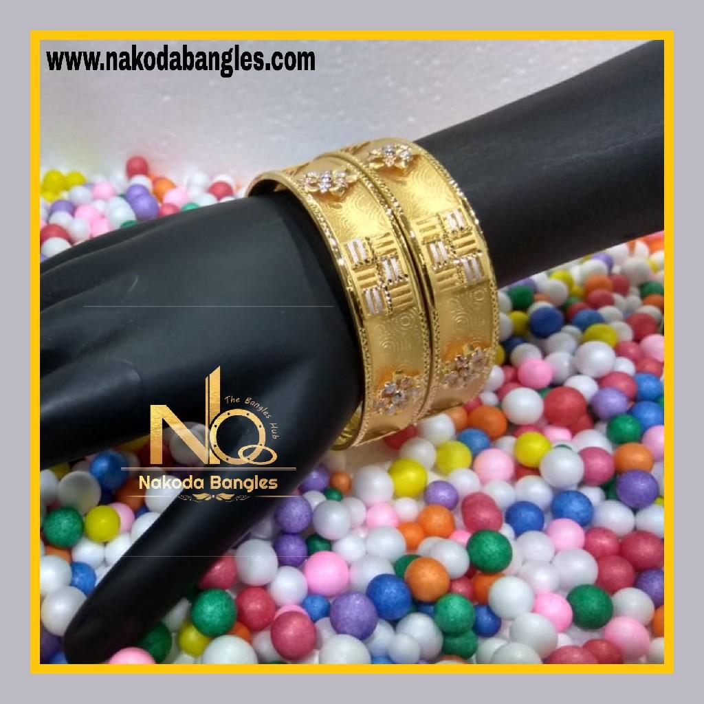916 Gold Patra Bangles NB - 621