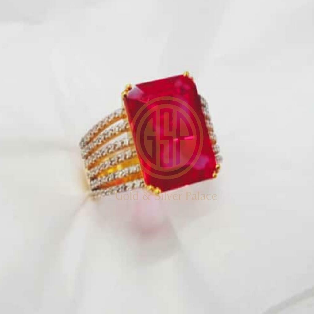 Ruby gem stone ring