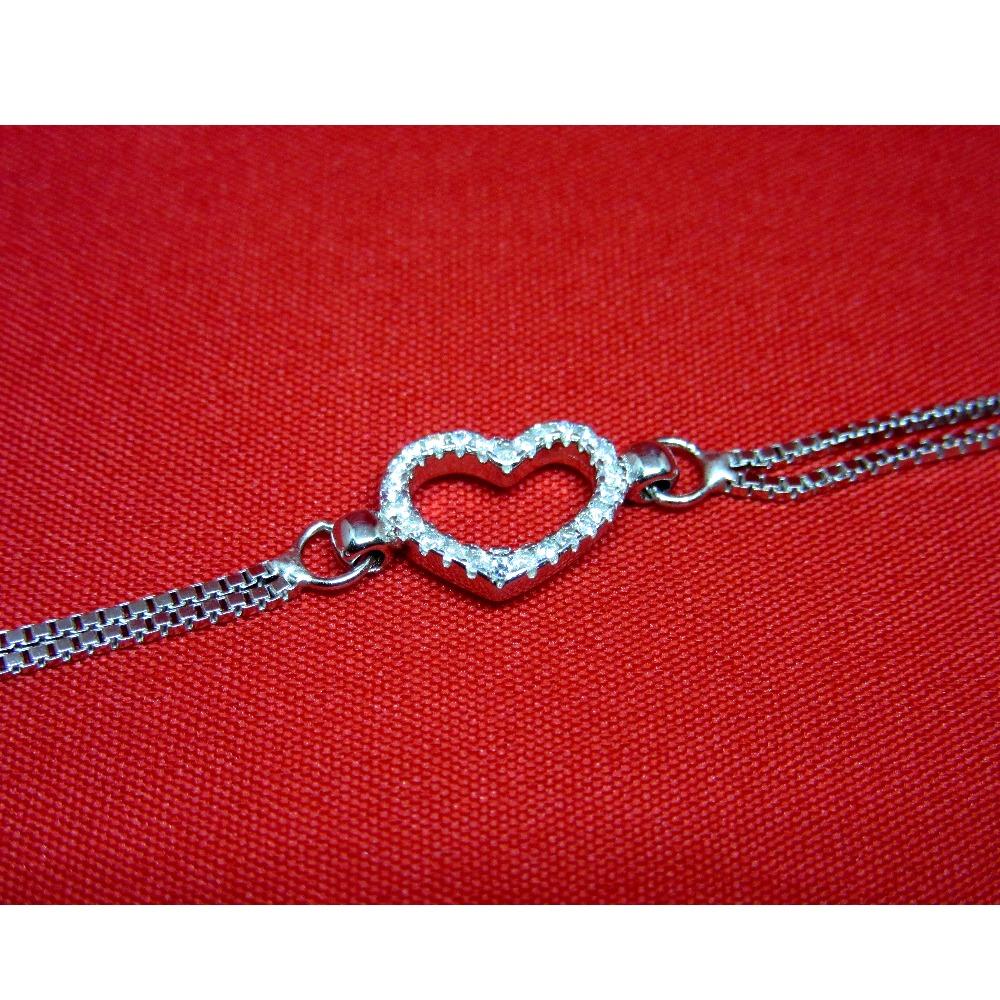 Silver 925vhearth shape bracelet sb925-29