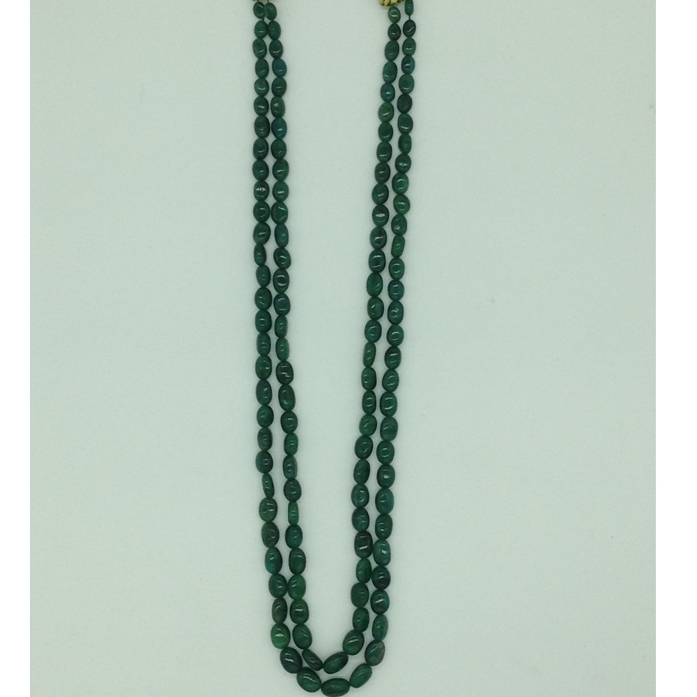 Natural Green Bariels Oval Aweja2Layers Necklace JSS0133