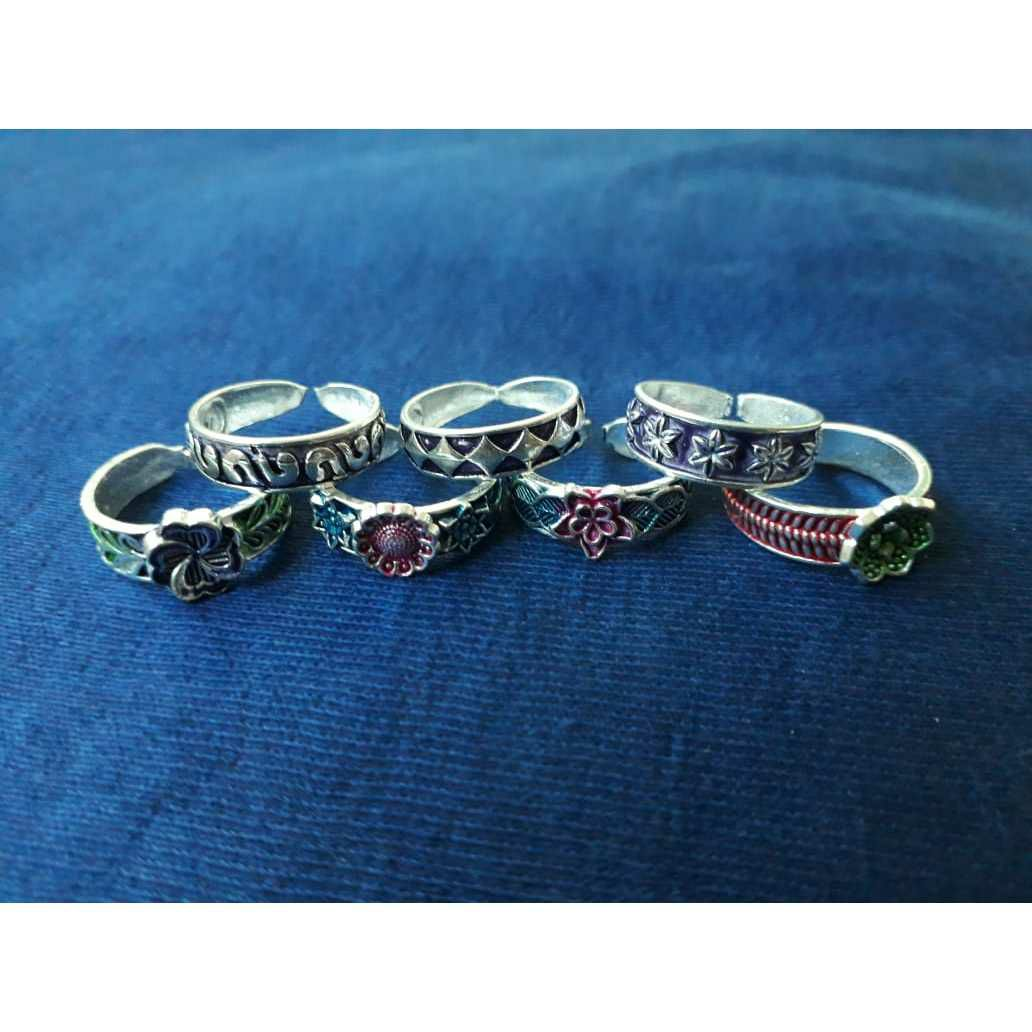 Mina Oxodize Handmade Nakshi Toe Ring Bichiya(Vichiya) Ferva Ms-2567