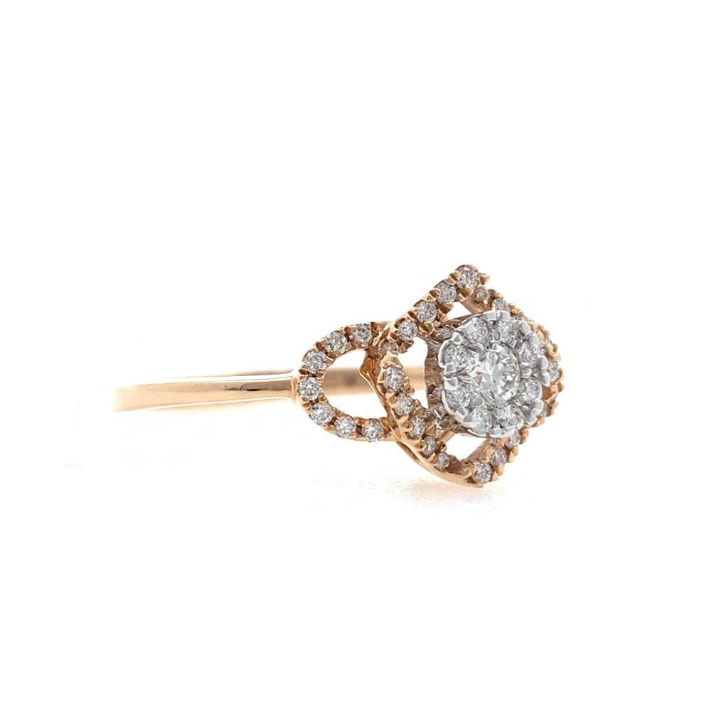 18kt / 750 Rose Gold Fancy Diamond Ladies Ring 9LR354