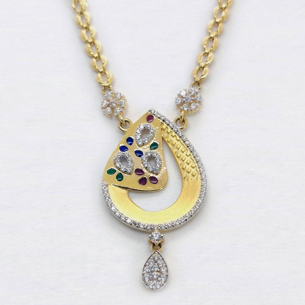 916 Gold Delicate Necklace Set SK-N010