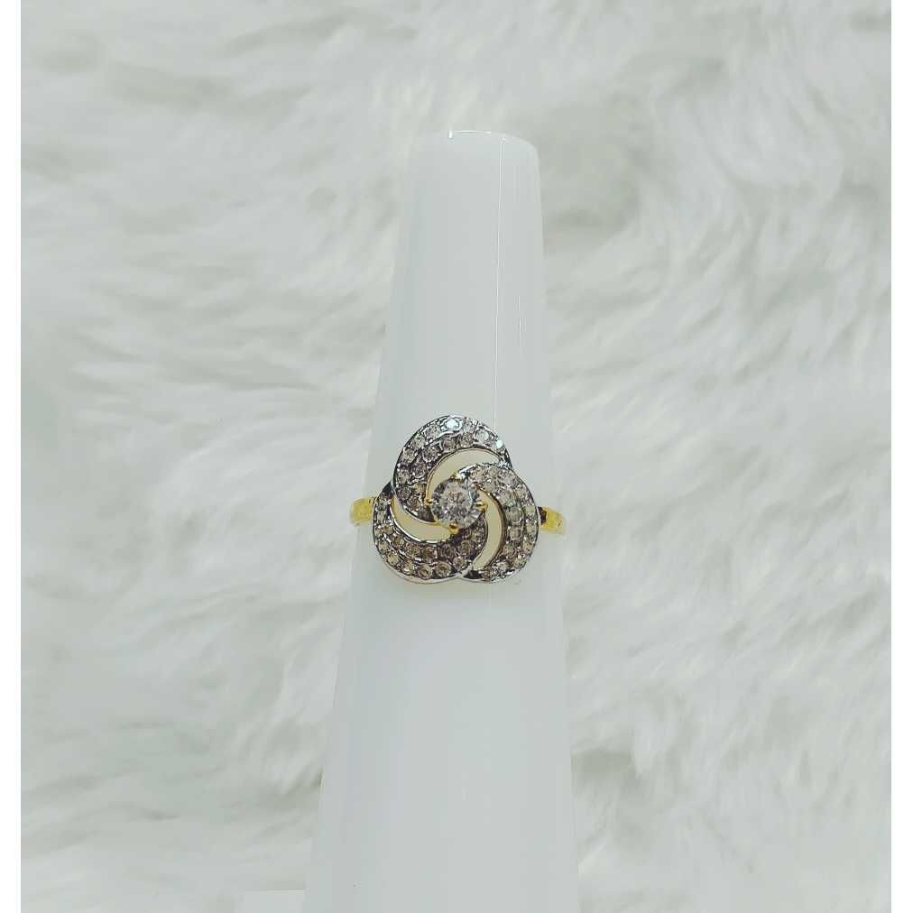 916 Gold Exclusive CZ Ladies Ring