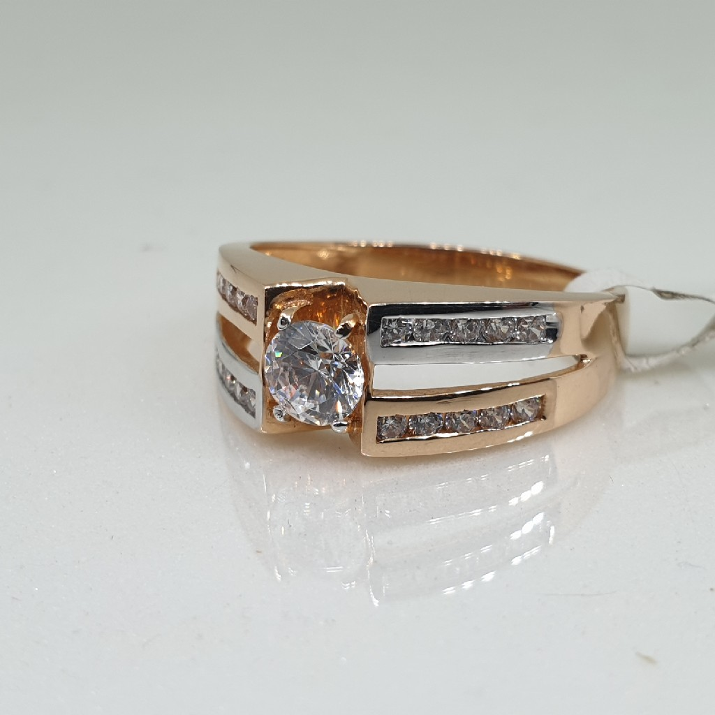 18k Gents Rose Gold Ring vt/9/20
