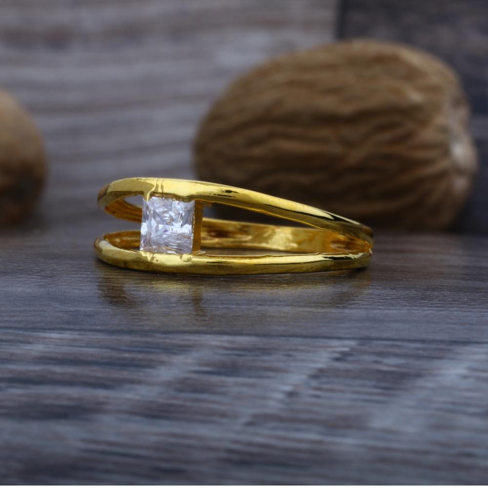 916 Plain Gold Solitaire Diamond Ring JJ-006