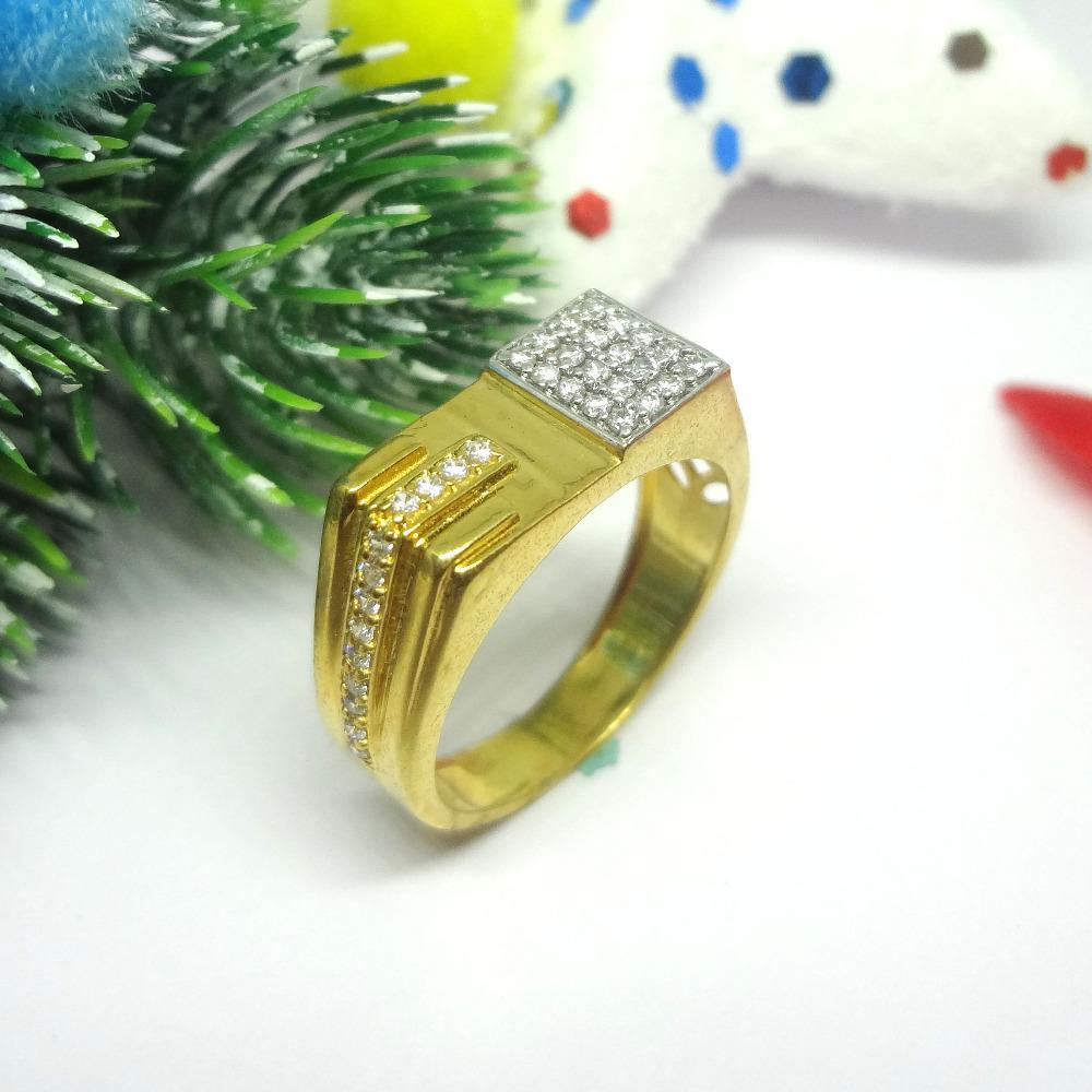 916 cz diamond gents ring