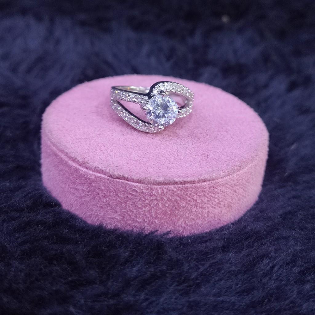 92.5 Sterling Silver Sunburst Ring For Women