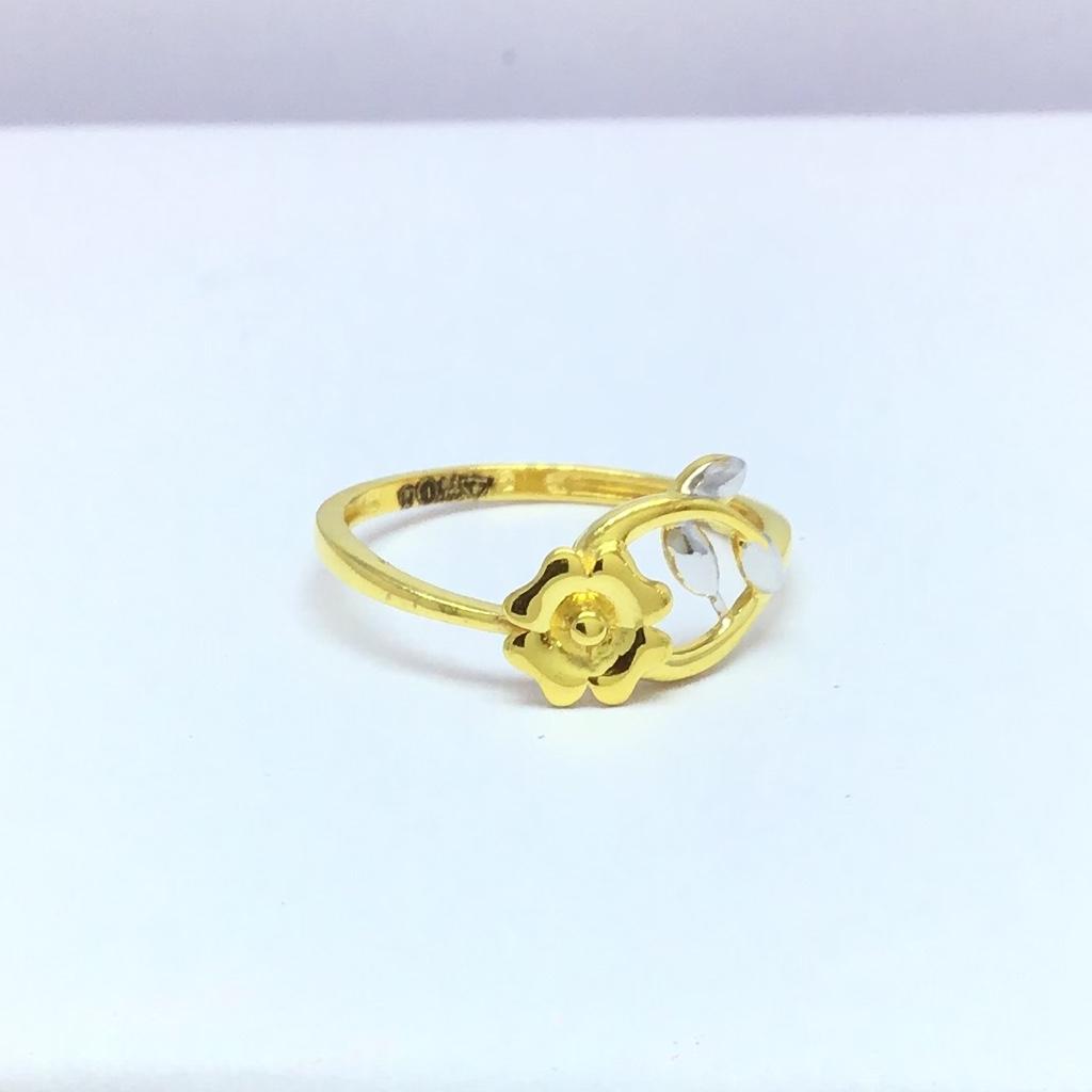 Designing fancy flower ladies gold ring