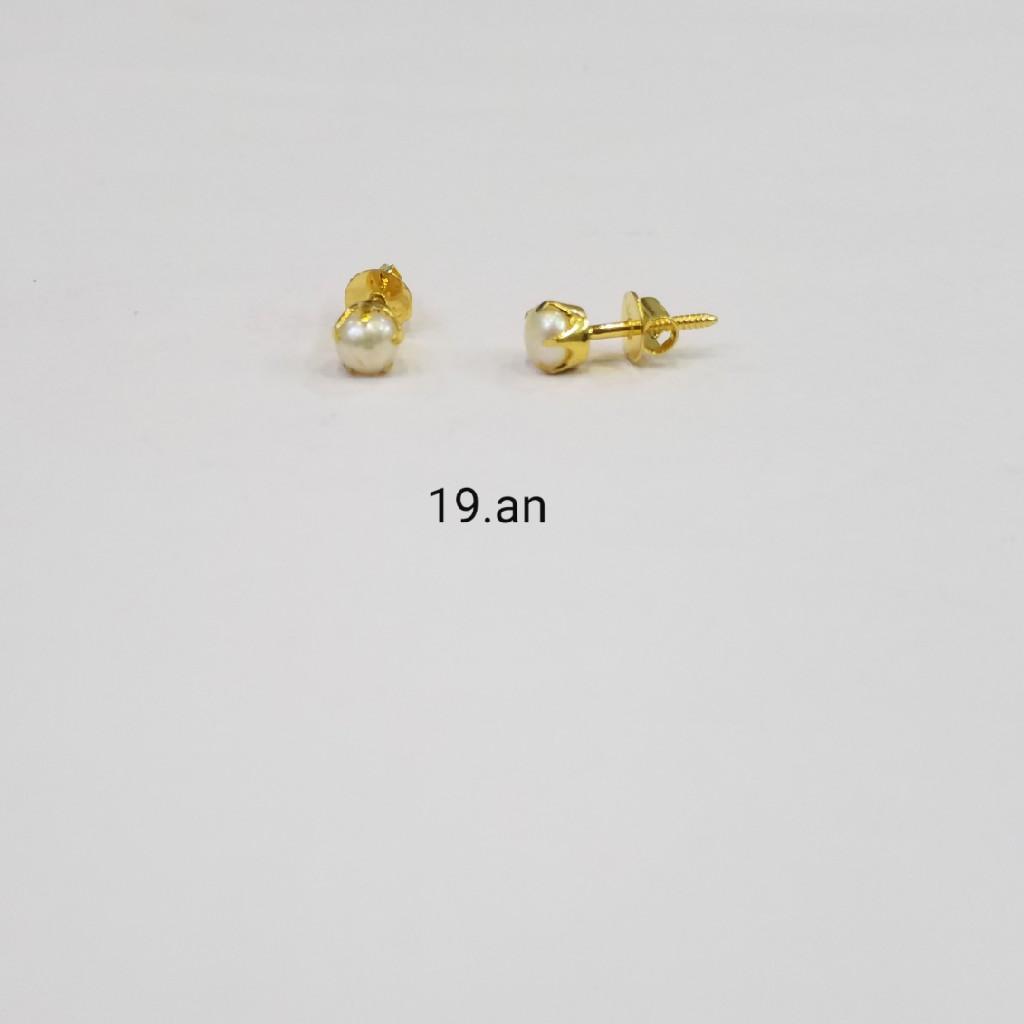 18kt gold c ston butti KS7480