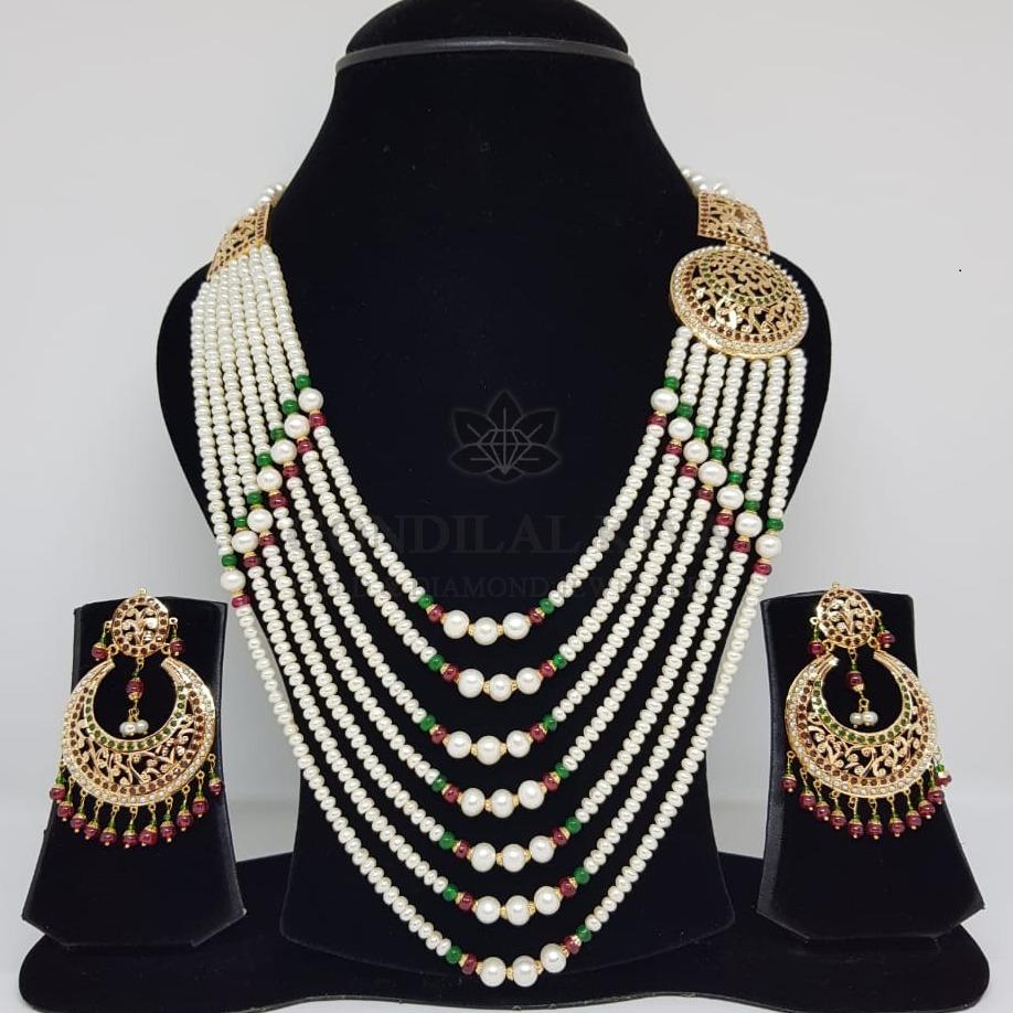 18kt gold necklace set gnl177 - gft440