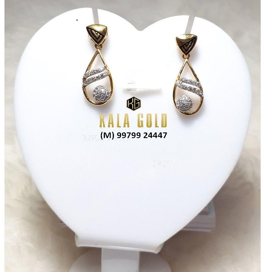 916 fancy oxidised earring with stylish latkan