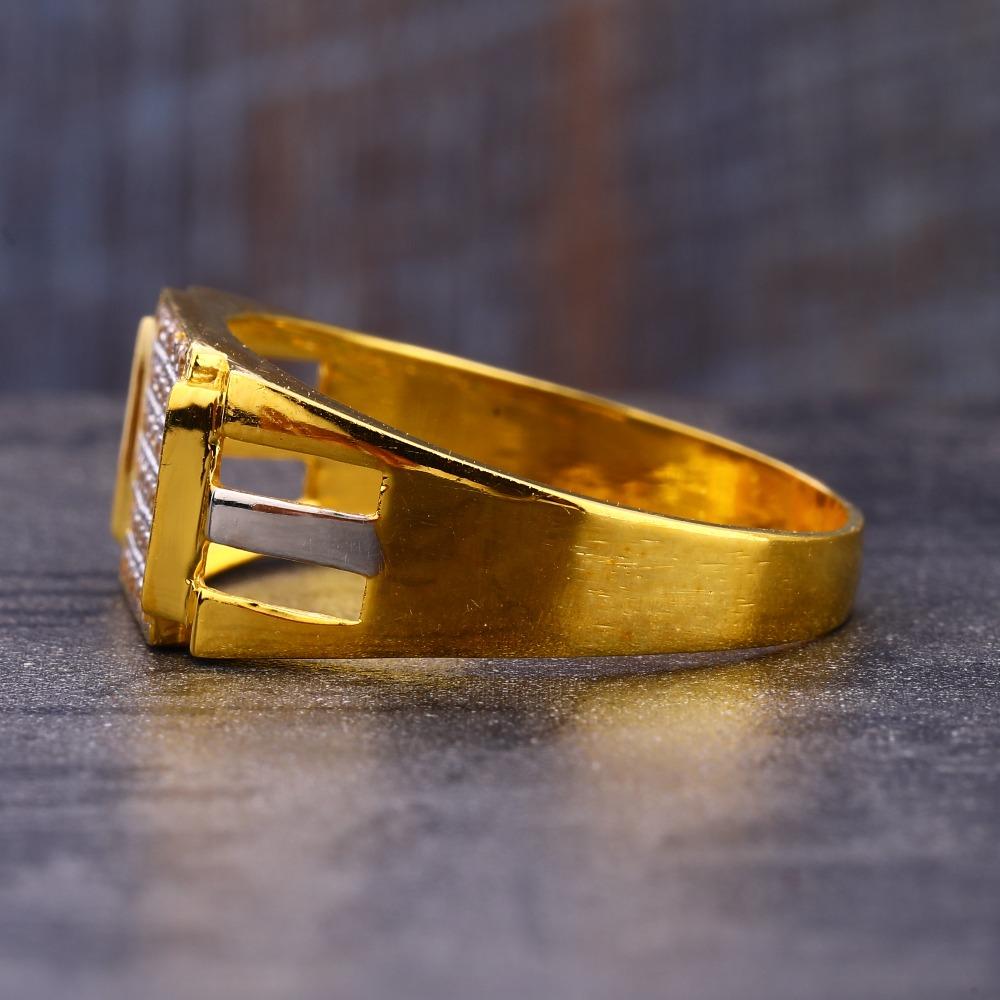 916 Gold exclusive Hallmark CZ Men's  Ring MR732