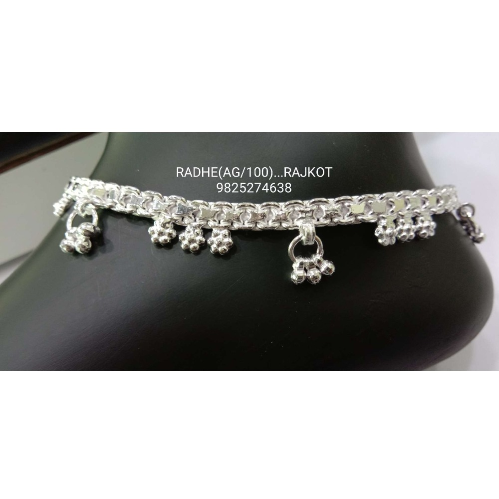 925 sterling Silver Fancy Payal RJ-P008